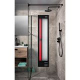 Xenz Feel Good shower UV en infrarood inbouw 6mm glas zwart